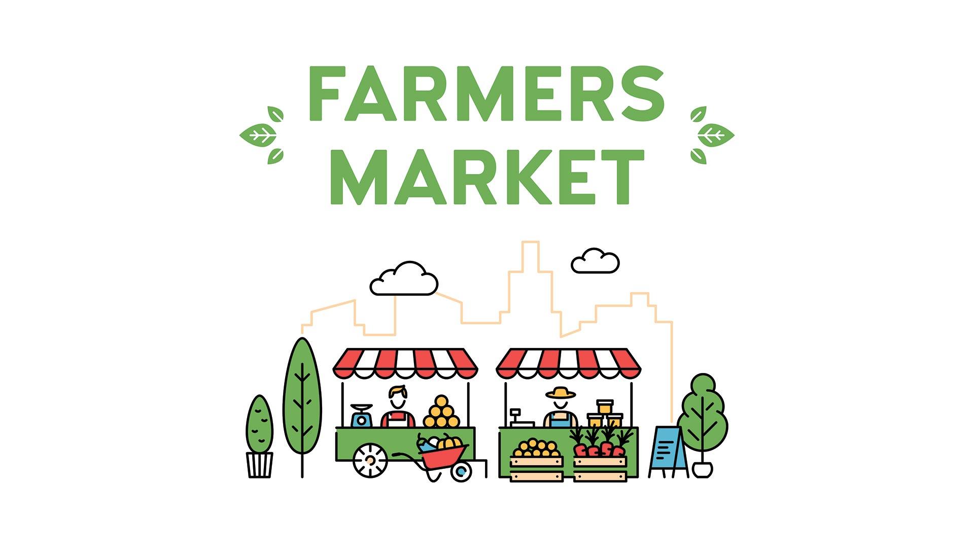 Clip art of farmers market
