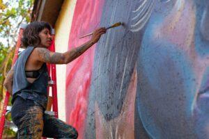 Wabash Walls mural