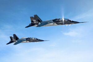 SAAB planes in flight